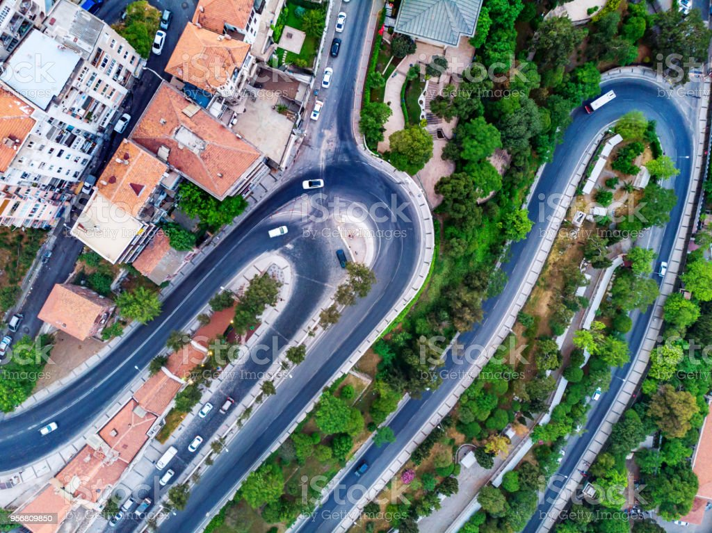 Aerial View of S Shaped Road From Above