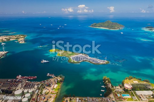 480763537 istock photo Aerial view of city Victoria with blue ocean 1209864268
