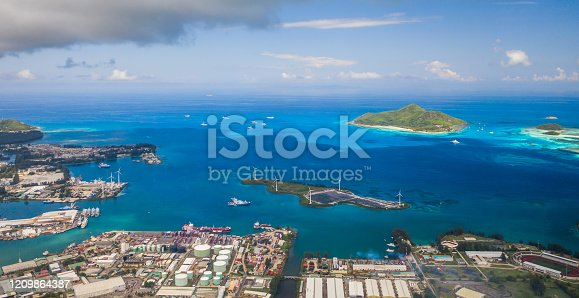 480763537 istock photo Aerial view of city Victoria with blue ocean 1209864387