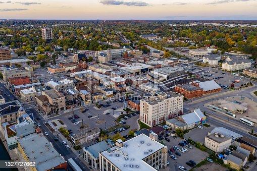 istock Aerial view of Cityscape in Galt, Cambridge, Ontario, Canada 1327727662