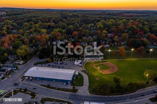 istock Aerial view of Cityscape in Galt, Cambridge, Ontario, Canada 1328013788