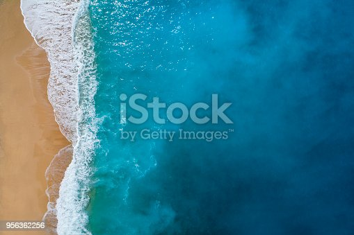 istock Aerial view of clear turquoise sea 956362256