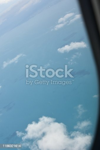 Aerial view of clouds from the sky