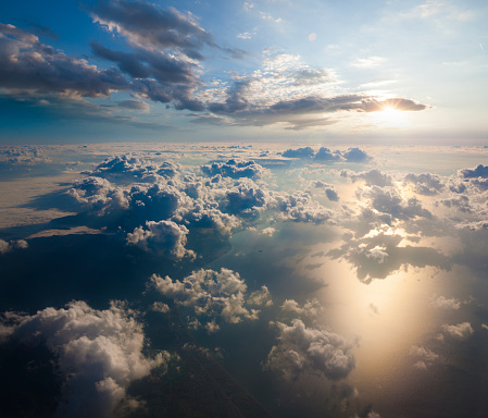 istock Aerial view of clouds from the sky 921118498