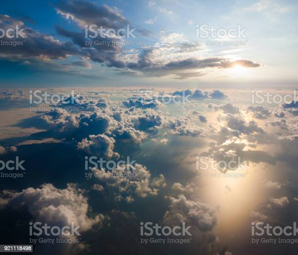 Photo of Aerial view of clouds from the sky
