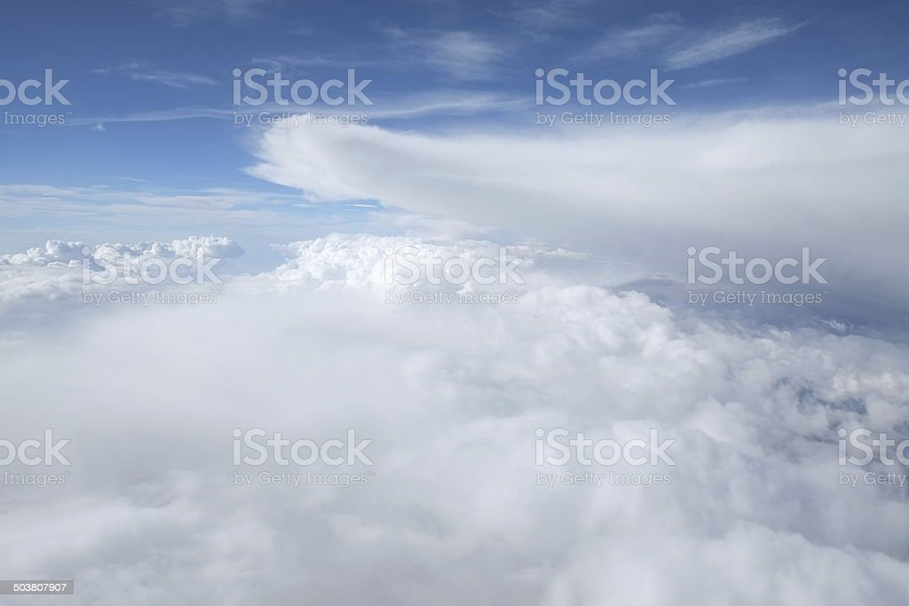 Aerial View of Clouds royalty-free stock photo
