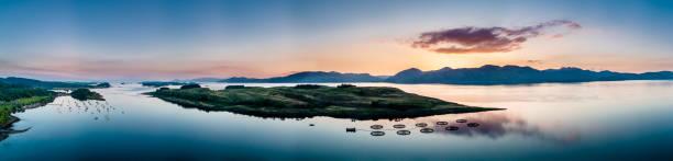 Luftbild der Küste von Appin mit Blick auf Shuna Insel und Arnamurchan – Foto