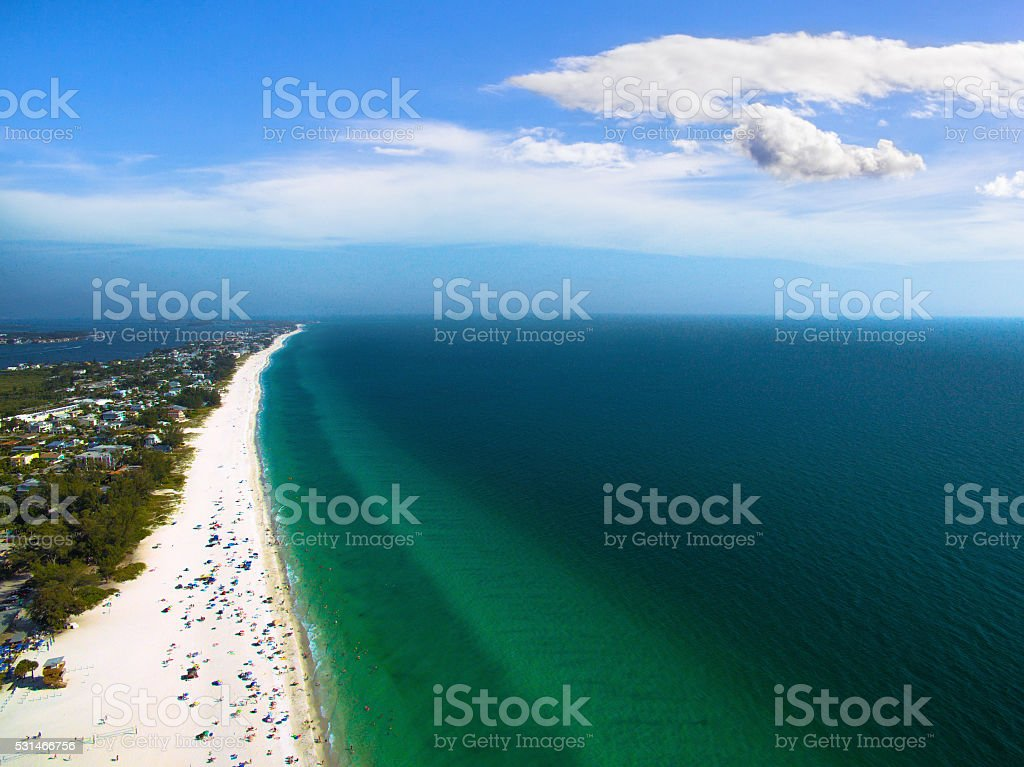 Aerial view of Coast in Florida, USA stock photo