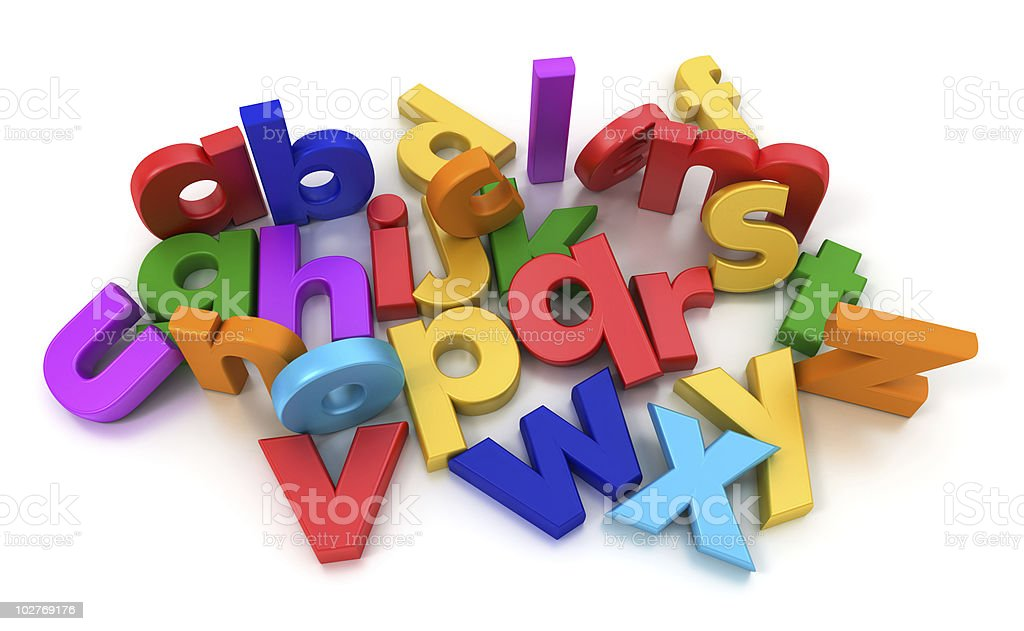 Aerial view of coloful Alphabet royalty-free stock photo