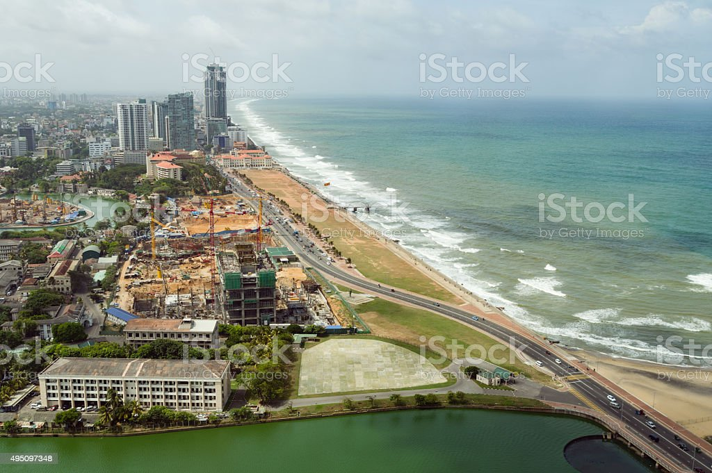 Aerial view of Colombo stock photo