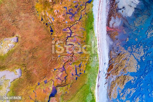 istock Aerial View of Colorful Coast of Snaefellsnes Peninsula, Iceland 1041418426
