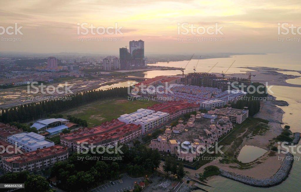 Luftaufnahme der Bau moderner Gebäude. – Foto