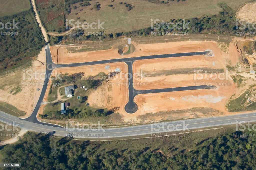 Aerial View of Construction royalty-free stock photo