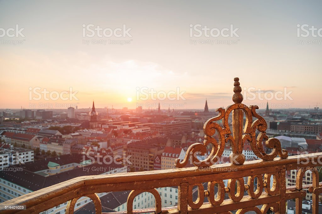 Aerial view of Copenhagen (Denmark) stock photo