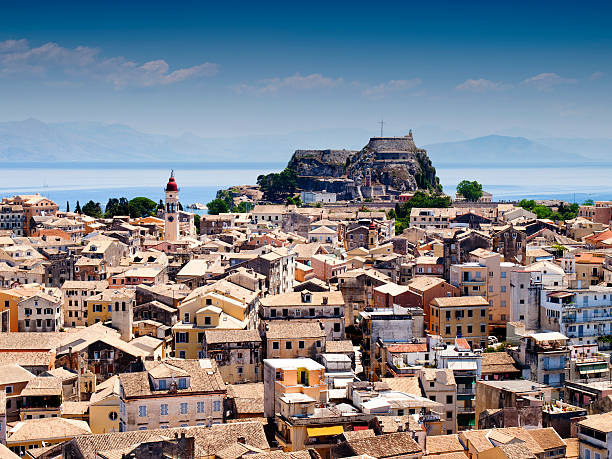 Luftbild von Korfu-Stadt bei Tag – Foto