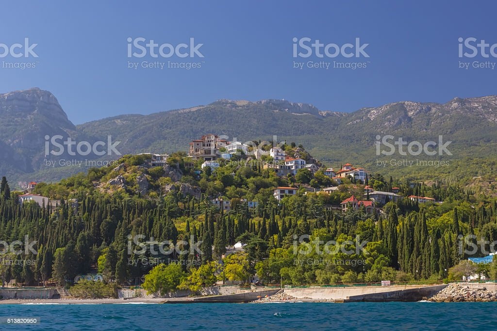 aerial view of Crimea stock photo