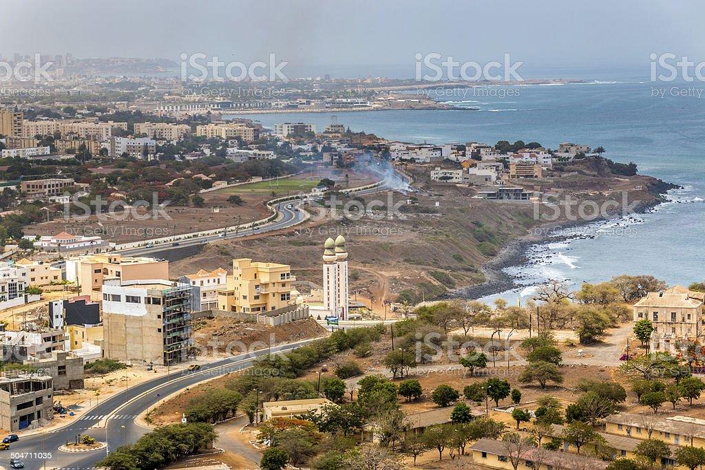 Aerial view of Dakar stock photo