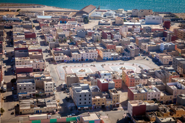 Aerial view of Dakhla stock photo