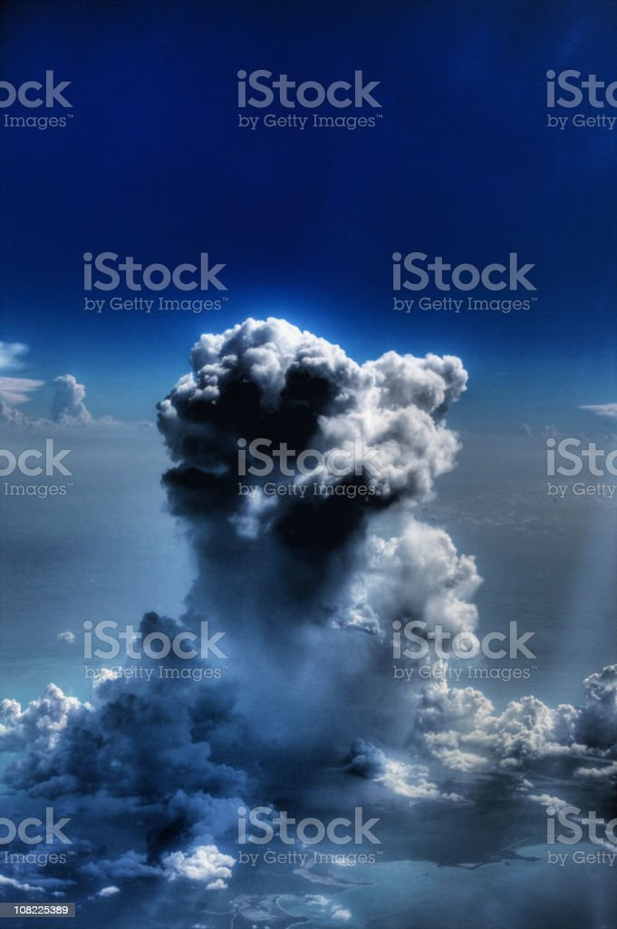 Aerial View of Dark Sky and Storm Clouds royalty-free stock photo