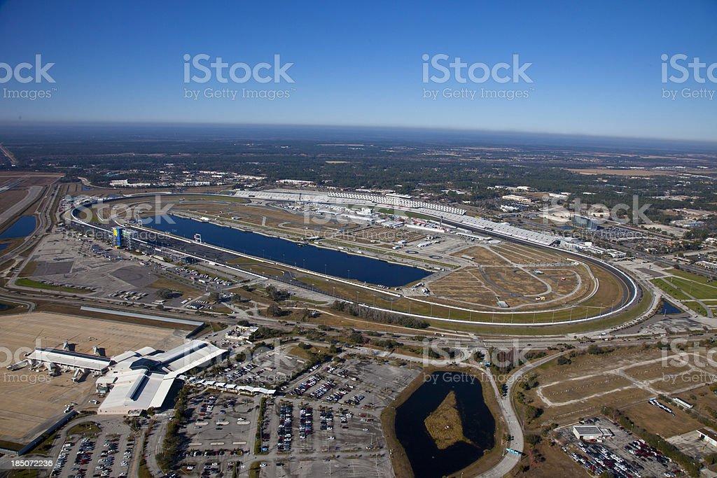 Aerial View of Daytona Speedway, Florida stock photo