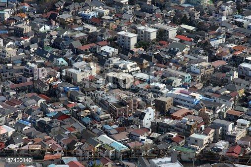 high density housing. Tokyo, Japan