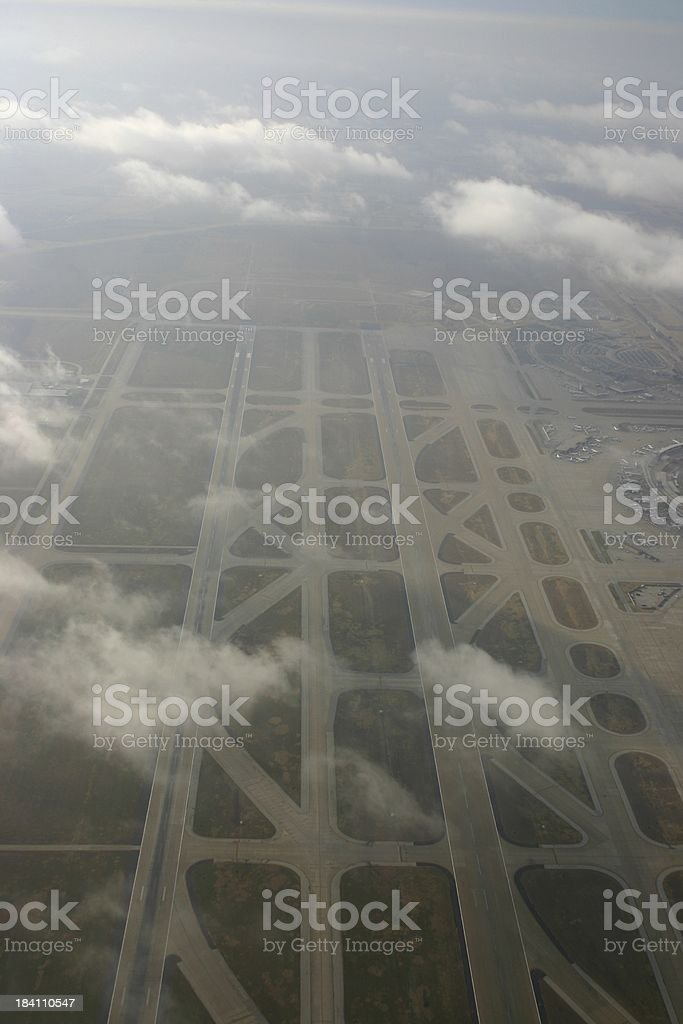 aerial view of DFW #3 royalty-free stock photo