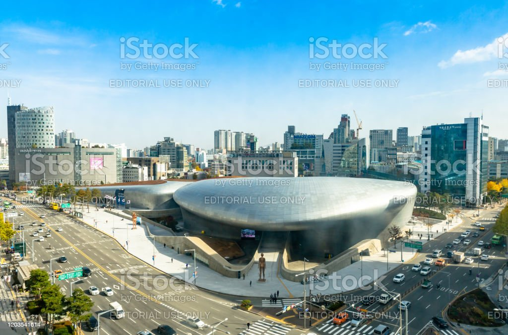 Aerial View Of Dongdaemun Design Plaza In Seoul South ...