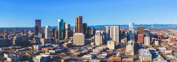 Vue aérienne du centre-ville de Denver Colorado - Photo