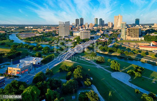 istock Aerial view of downtown Fort Worth Texas 1224823838