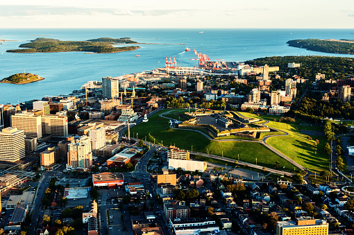 Aerial View Of Downtown Halifax Stock Photo - Download Image Now