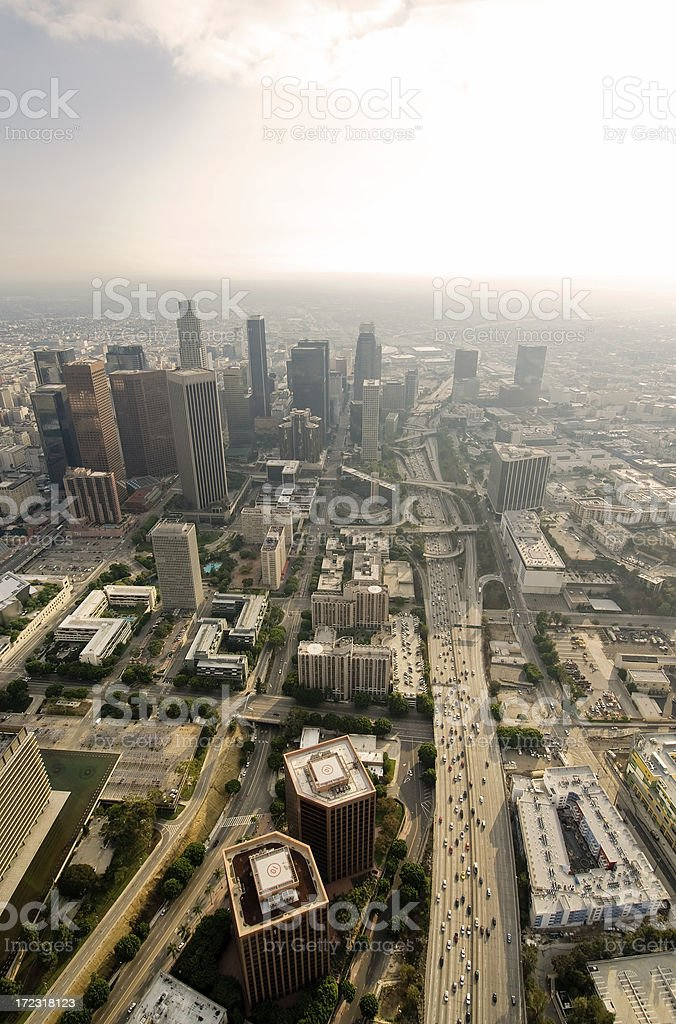 Aerial View of Downtown Los Angeles, California royalty-free stock photo