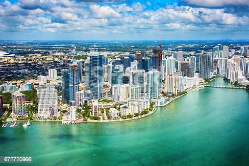 istock Aerial View of Downtown Miami Florida and Surrounding Area 672720966