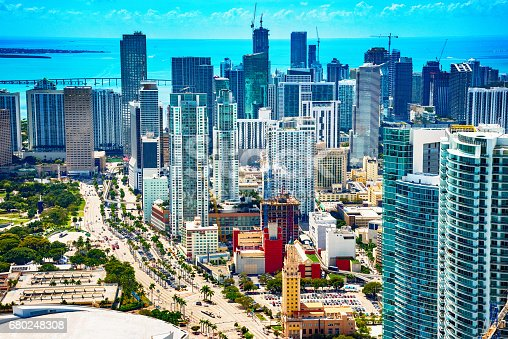 802893644 istock photo Aerial View of Downtown Miami Florida 680248308