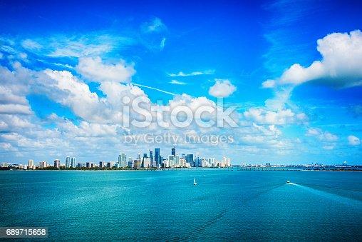 istock Aerial View of Downtown Miami Florida 689715658