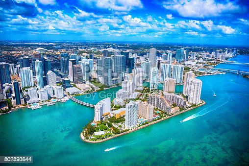 802893644 istock photo Aerial View of Downtown Miami Florida 802893644
