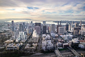 Elevated View of the Skyline of San Diego, California, USA