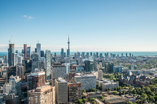 istock Aerial view of downtown Toronto at daytime 459279449