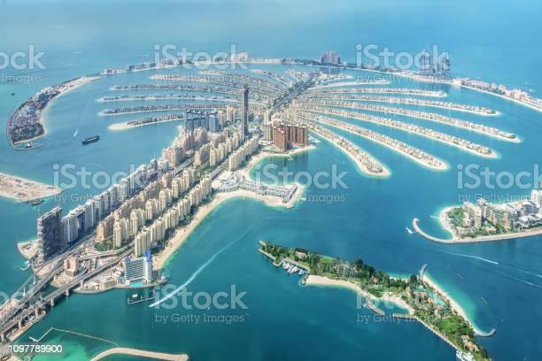 Photo of Aerial view of Dubai Palm Jumeirah island, United Arab Emirates