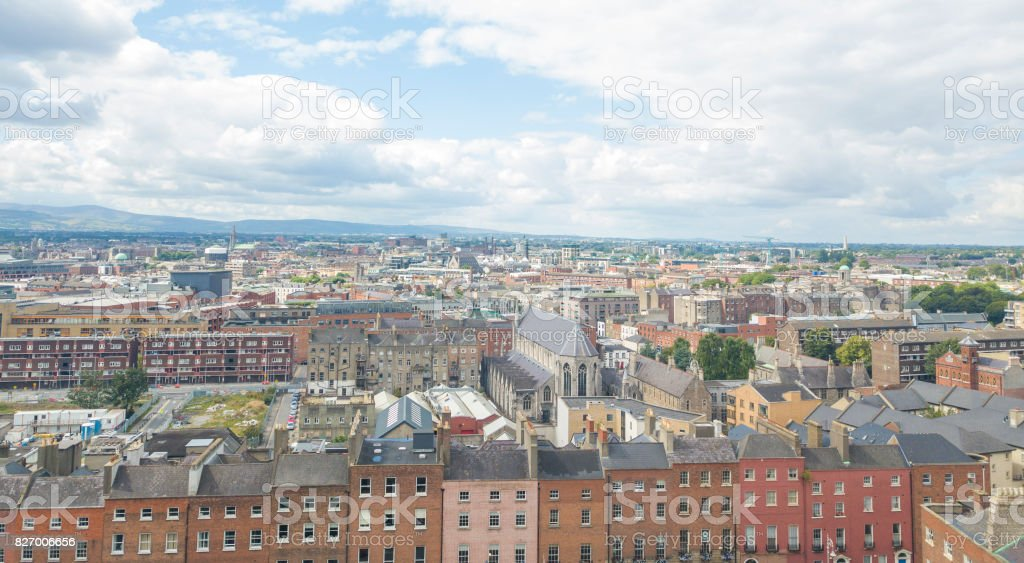 Aerial view of Dublin city centre, Ireland. royalty-free stock photo