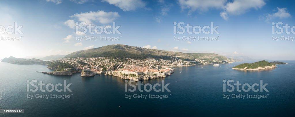 Aerial view of Dubrovnik, Croatia stock photo
