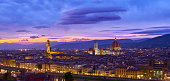 Aerial view of Duomo Cathedral in Florence Italy