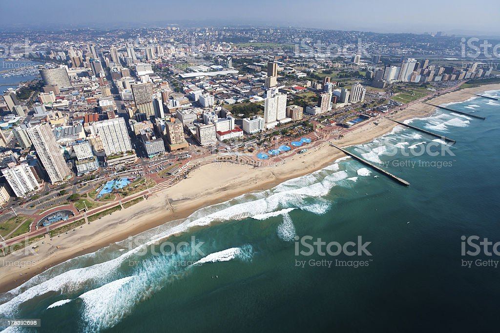 aerial view of durban royalty-free stock photo