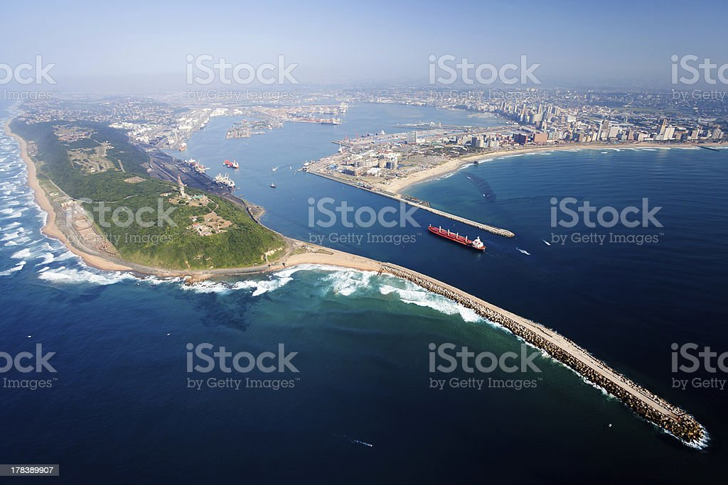 aerial view of Durban, south africa stock photo