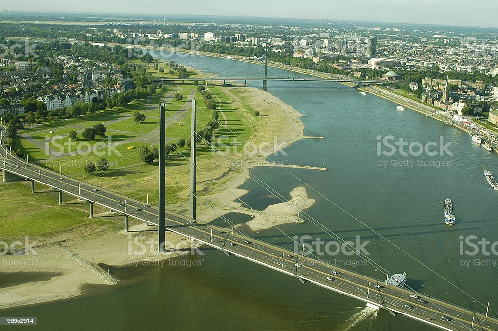 Aerial view of Dusseldorf royalty-free stock photo