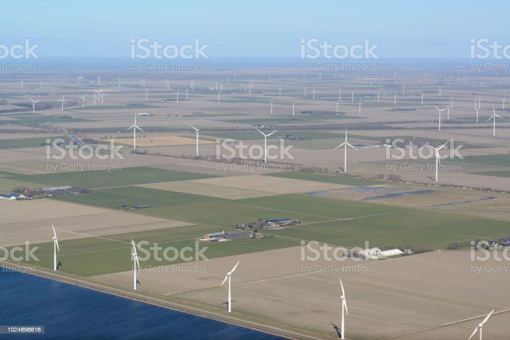 Luftaufnahme der holländischen Landschaft – Foto