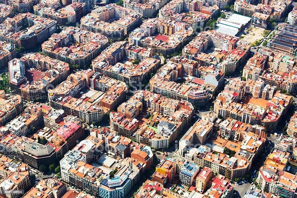 Vista aérea de Eixample zona residencial. Barcelona - foto de stock