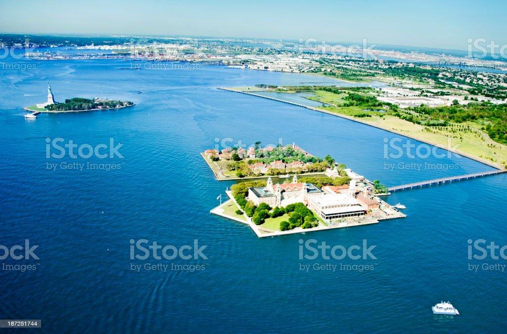 Aerial VIew of Ellis Island royalty-free stock photo