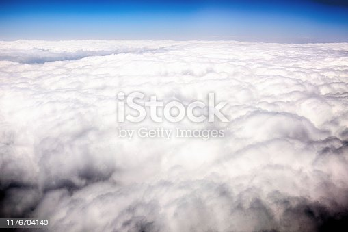 Dramatic cloudscape seen from above.