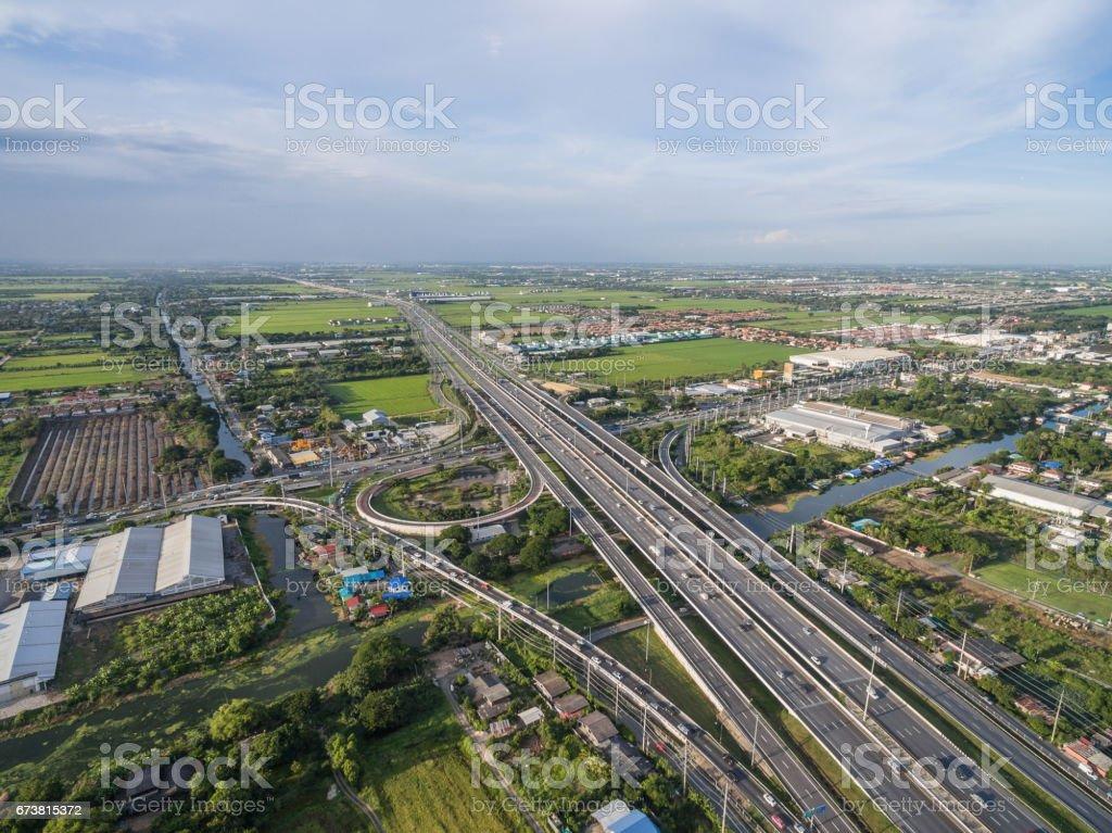 Luftaufnahme von Autobahn in Bangkok, thailand – Foto