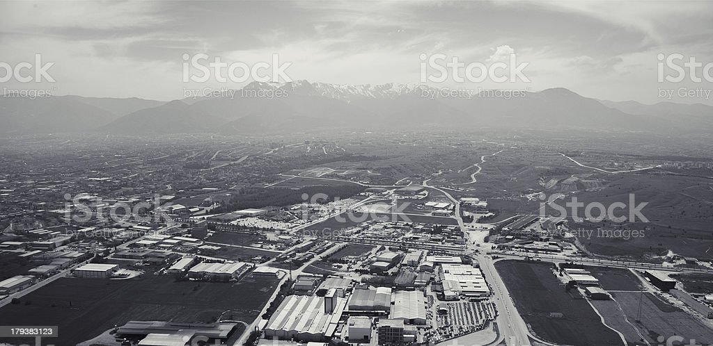 Aerial View of factories royalty-free stock photo